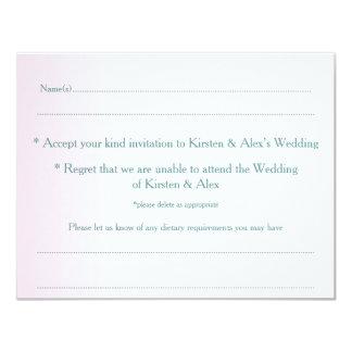 Ombre rosa OSAvykort 10,8 X 14 Cm Inbjudningskort