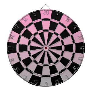 Ombre rosagrått och svart piltavla
