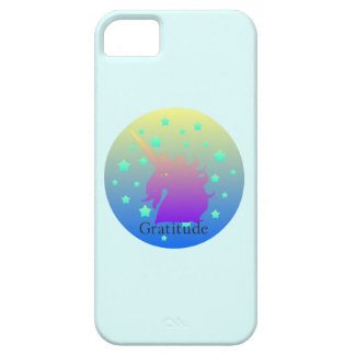 Ombre unicorn med ordtacksamhet iPhone 5 Case-Mate skydd