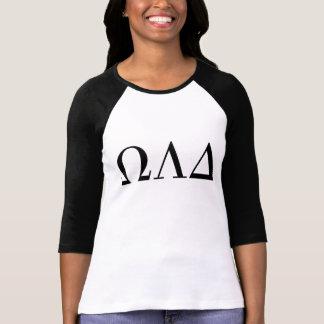 Omega Lambda deltakvinna 3/4 utslagsplats för Tee Shirt