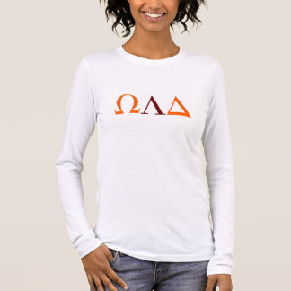 Omega Lambda deltakvinna T-tröja för långärmad Tee