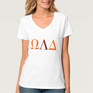 Omega Lambda deltakvinna V-Nacke T-tröja Tee