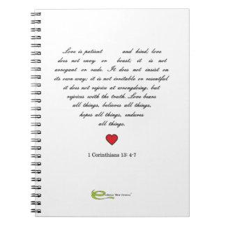 Omfamna dina drömmar anteckningsbok med spiral