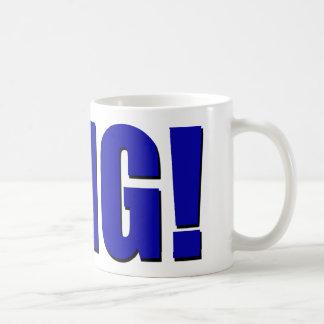 OMG! blått Kaffemugg