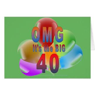 OMG den stora grattis på födelsedagen 40 Hälsningskort