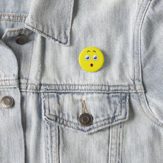 OMG förvånada Emoji Mini Knapp Rund 3.2 Cm