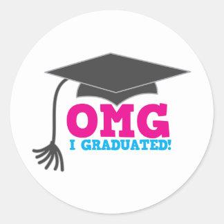 OMG som jag avlade examen Runt Klistermärke