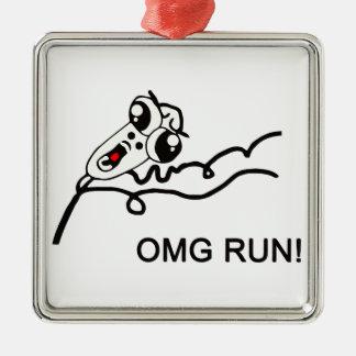 OMG-springa! - meme Julgransprydnad Metall