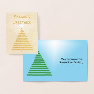 Omkullkasta kortet - grafiskt träd med stjärnan folierat kort