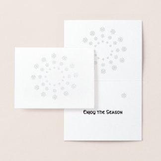 Omkullkasta kortet - snöflingor i koncentriskt folierat kort