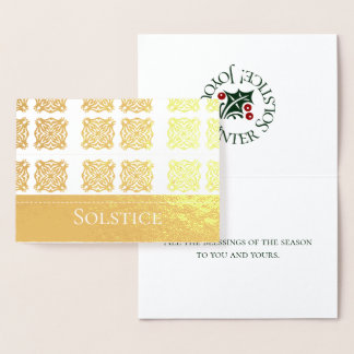Omkullkasta paganen för SolsticeSnowflakedesignen Folierat Kort