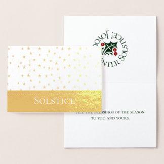 Omkullkasta paganen för Solsticestjärnadesignen Folierat Kort