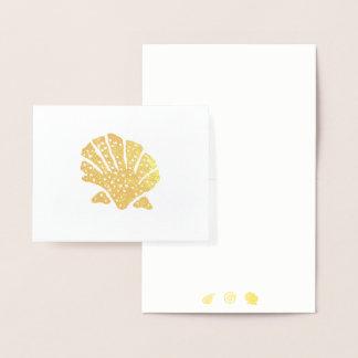 Omkullkasta snäckor som silhouetten noterar kortet folierat kort