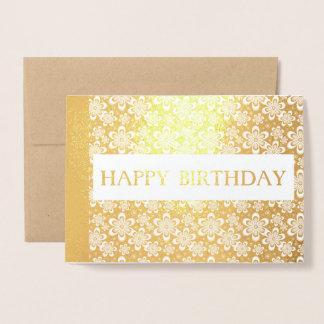 omkullkastar den blom- guld- eleganten för grattis folierat kort