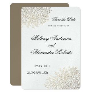 Omkullkastar elegantt guld för vintagesnöre spara 12,7 x 17,8 cm inbjudningskort