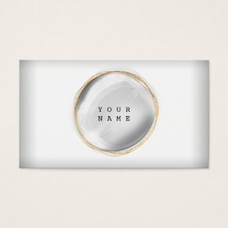 Omkullkastar grått guld- för Minimalism Visitkort