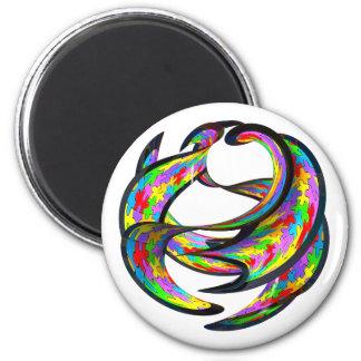 Omöjlig geometri magnet rund 5.7 cm