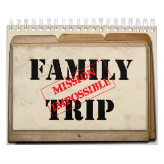 Omöjlig kalender för familjresabeskickning