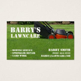 Omsorg- eller landskapvisitkort för gräsmatta visitkort