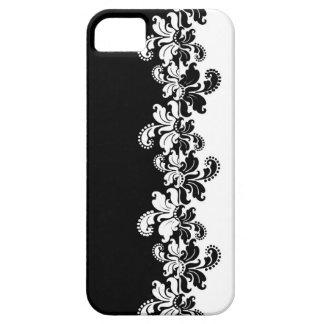 Omvänd krusidull för svart vit iPhone 5 skal
