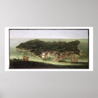 Ön av Barbados, c.1694 (olja på kanfas) Poster