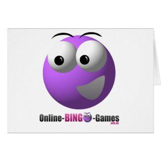 On-line BingoMerchandiselogotyp och maskot Hälsningskort