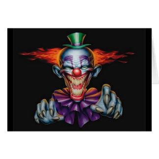 Ond clown för mördare hälsningskort