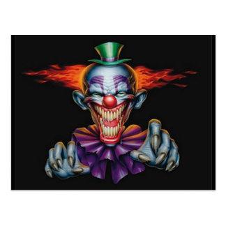 Ond clown för mördare vykort