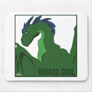 Ond coola för kallt grönt drakeblåtthår musmattor