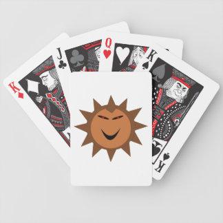 Ond igelkott Kawaii Goth Halloween som leker kort Spelkort