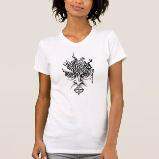 Onda naturliga kvinnakvinna T T-shirt