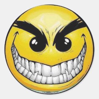 Onda smiley facerundaklistermärkear runt klistermärke