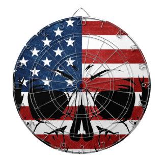 Ondska för skelett för Amerika skalleflagga Piltavla