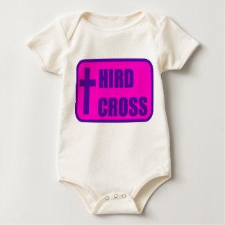 Onesy med den rosa och purpurfärgade logotypen body för baby