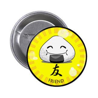 Onichibi - vän standard knapp rund 5.7 cm