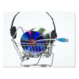 OnlineMusicShopping070709 10,8 X 14 Cm Inbjudningskort