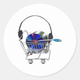 OnlineMusicShopping070709 Runt Klistermärke