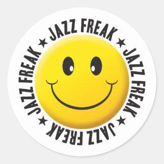 Onormal Smiley för Jazz Runt Klistermärke
