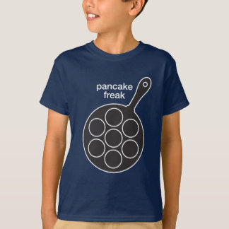 Onormala unge för pannkaka mörka T-tröja Tröja