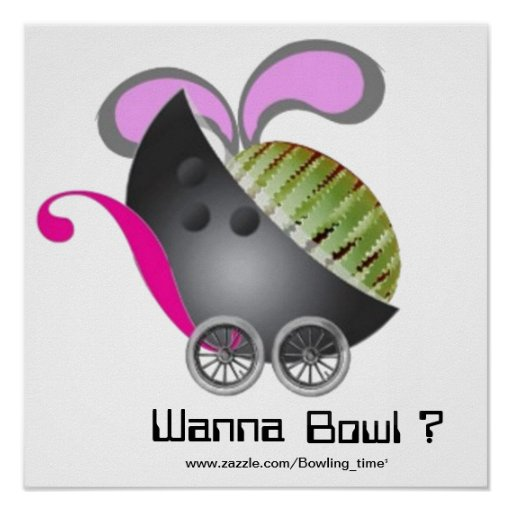 Önska att bowla? affisch