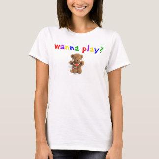 Önska att leka? (Inget förse med text), T-shirt