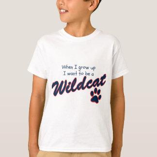 Önska att vara en vildkatt, när jag växer upp mig t-shirts