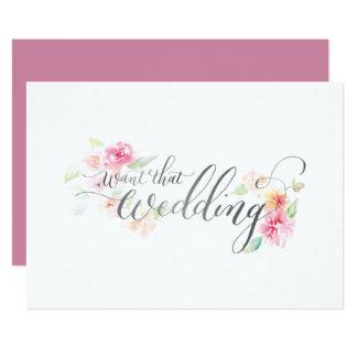Önska det bröllop 12,7 x 17,8 cm inbjudningskort