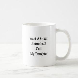 Önska en underbar journalistappell min dotter kaffemugg