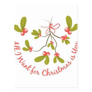Önska för jul vykort