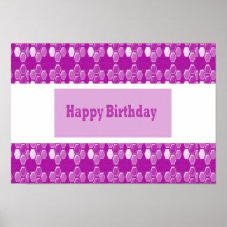 Önska grattis på födelsedagen med Sparkling rosa Poster