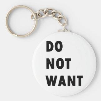 Önska inte rund nyckelring