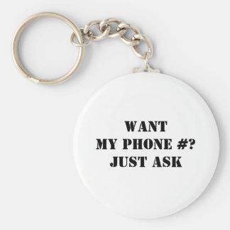Önska mitt mobilt nr.? Fråga precis Rund Nyckelring