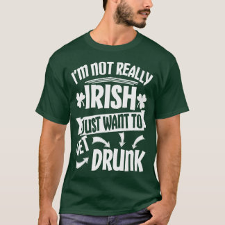 Önska precis att få berusat t-shirt