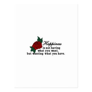 Önska vad du har vykort